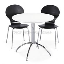 Kimberley Dining Set White Table & 2 Black Chairs 1/2 Price Deal